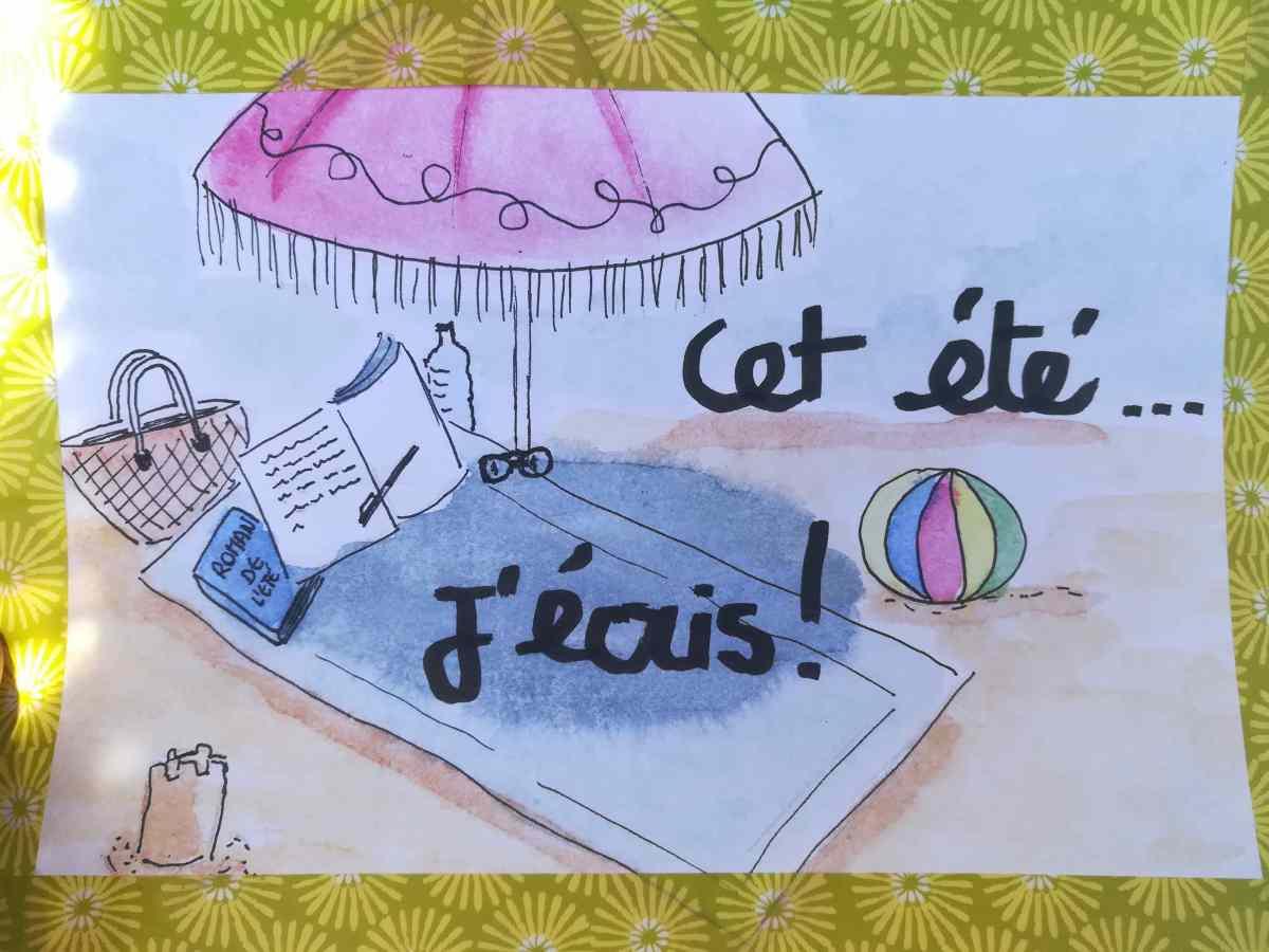 vacances ecriture illustration Aurelie Mojo